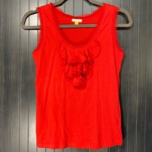 Anthropologie Leifsdottir Red Ruffle Top XS